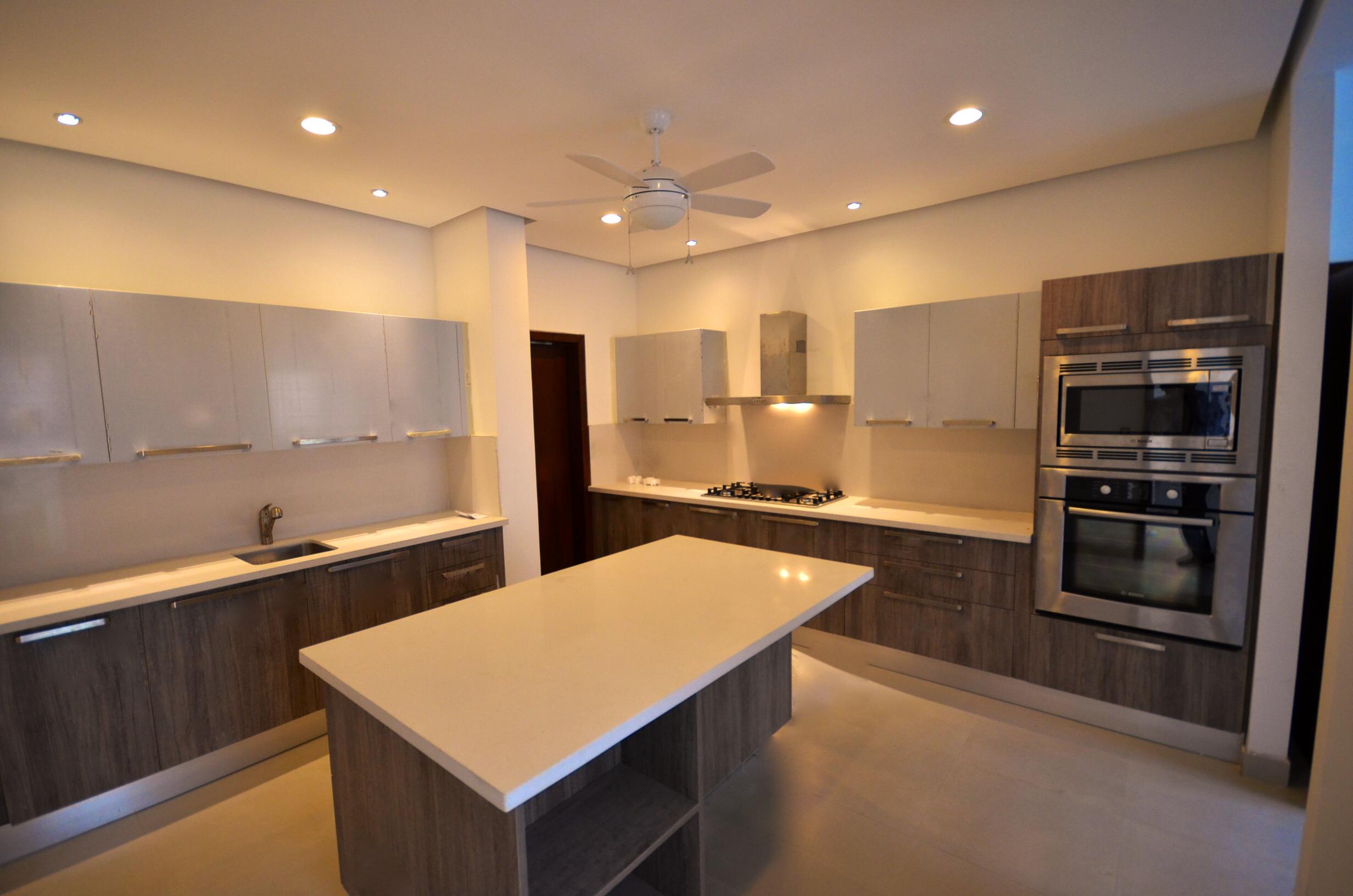 Simple kitchen slabs, interior design, EL Mirador Residence