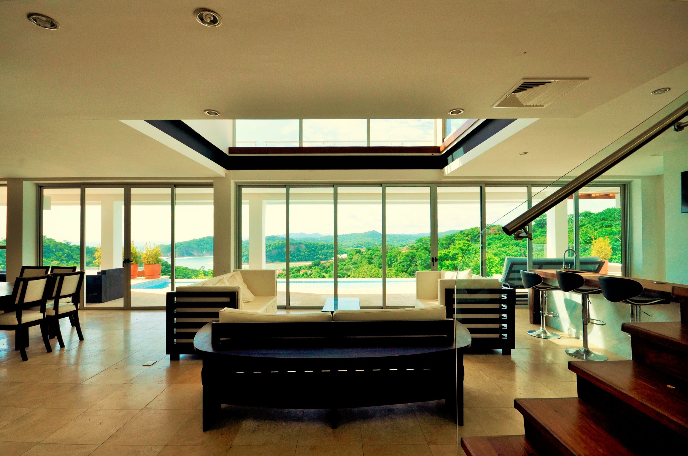 Modern living area, architect design, interior design, Hamacas Beach Residence
