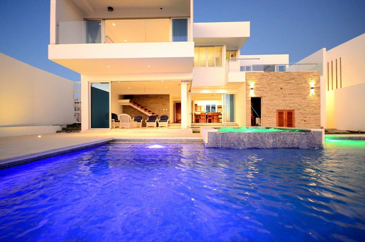 Modern outdoor pool, architect work design, Pacific Penthouse Residence