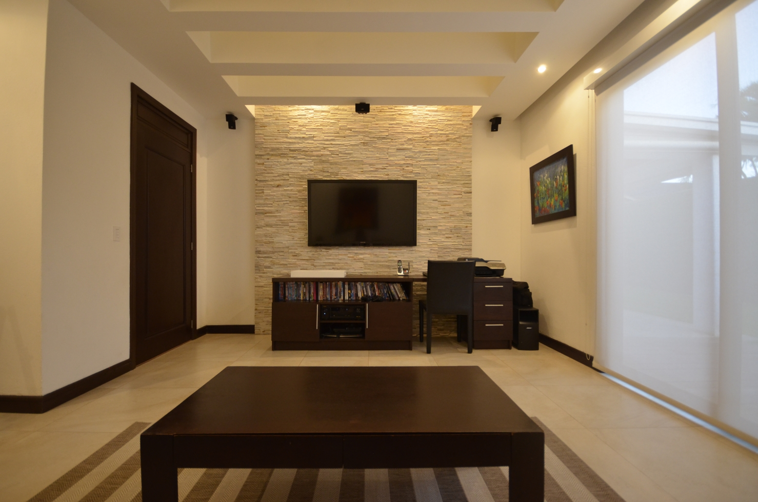 TV lounge, sitting area, architect design work, Portal 45 Residence