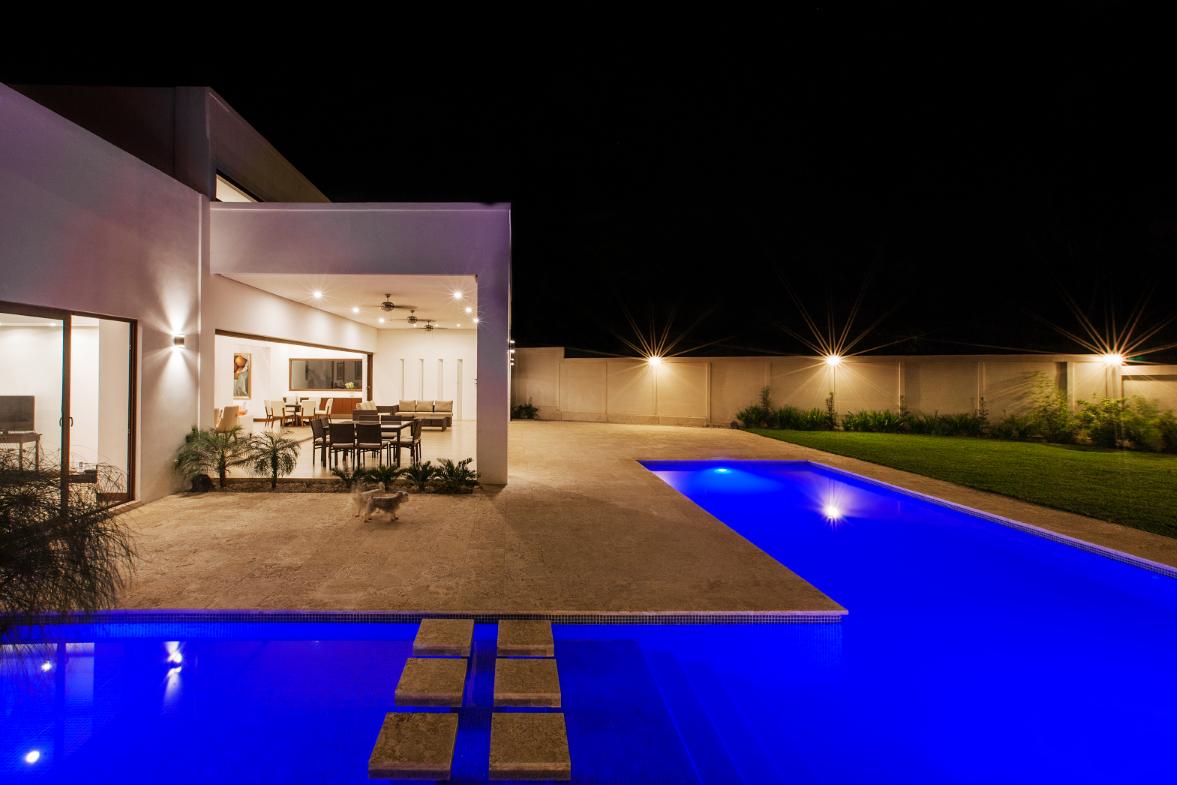 Modern pool, exterior design, Enstancia Residence