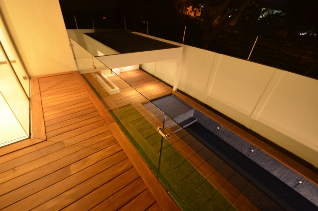 Wooden floor, beautiful pool, architect work, Vitruvian Residence