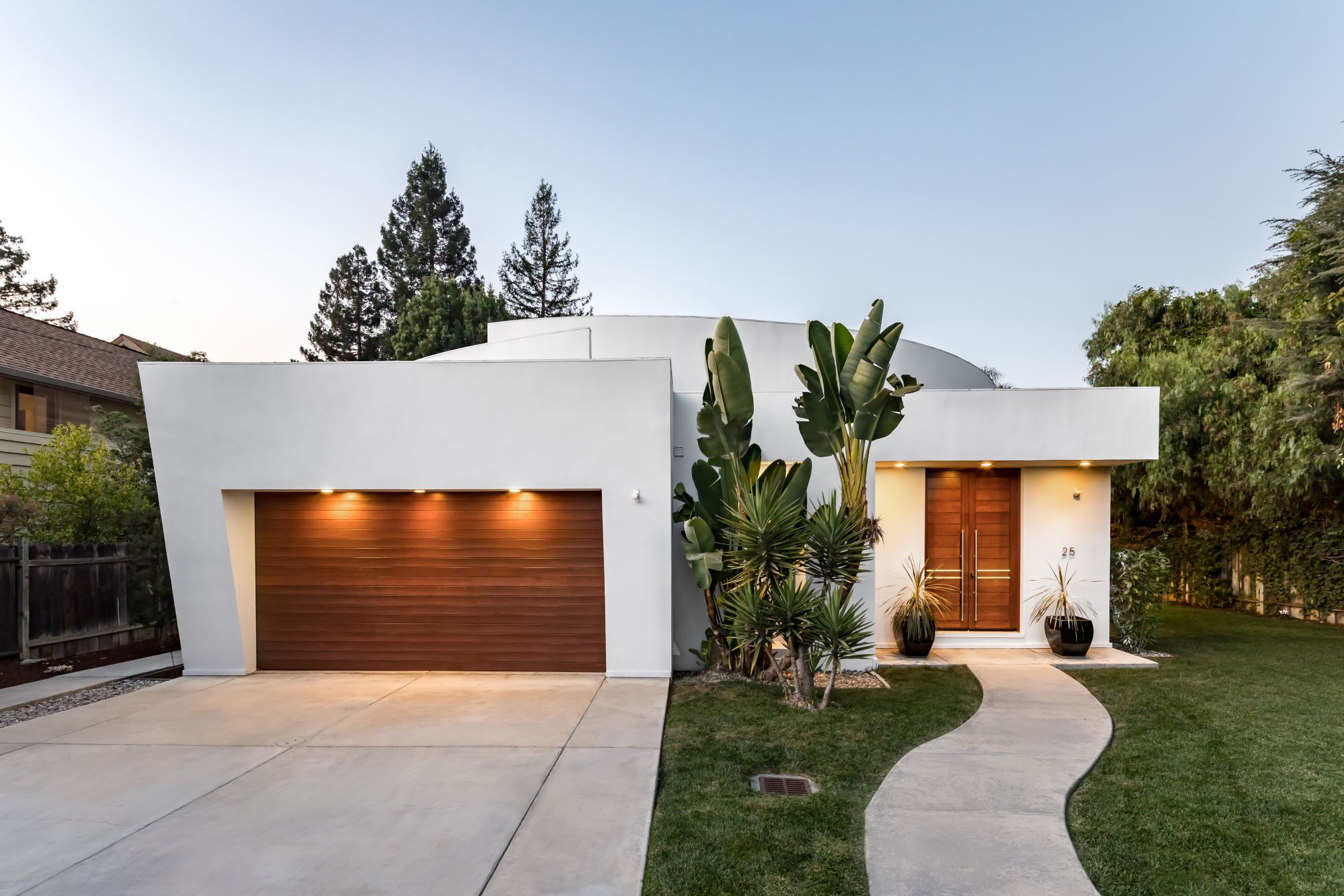 Elegant Garage Front, Architect design, Los Altos