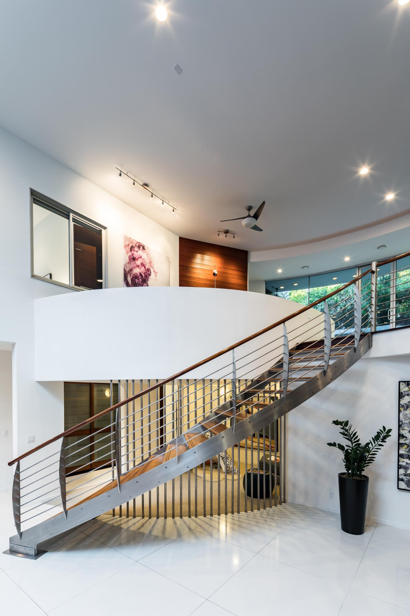 Stairs, interior design, architect work, Los Altos