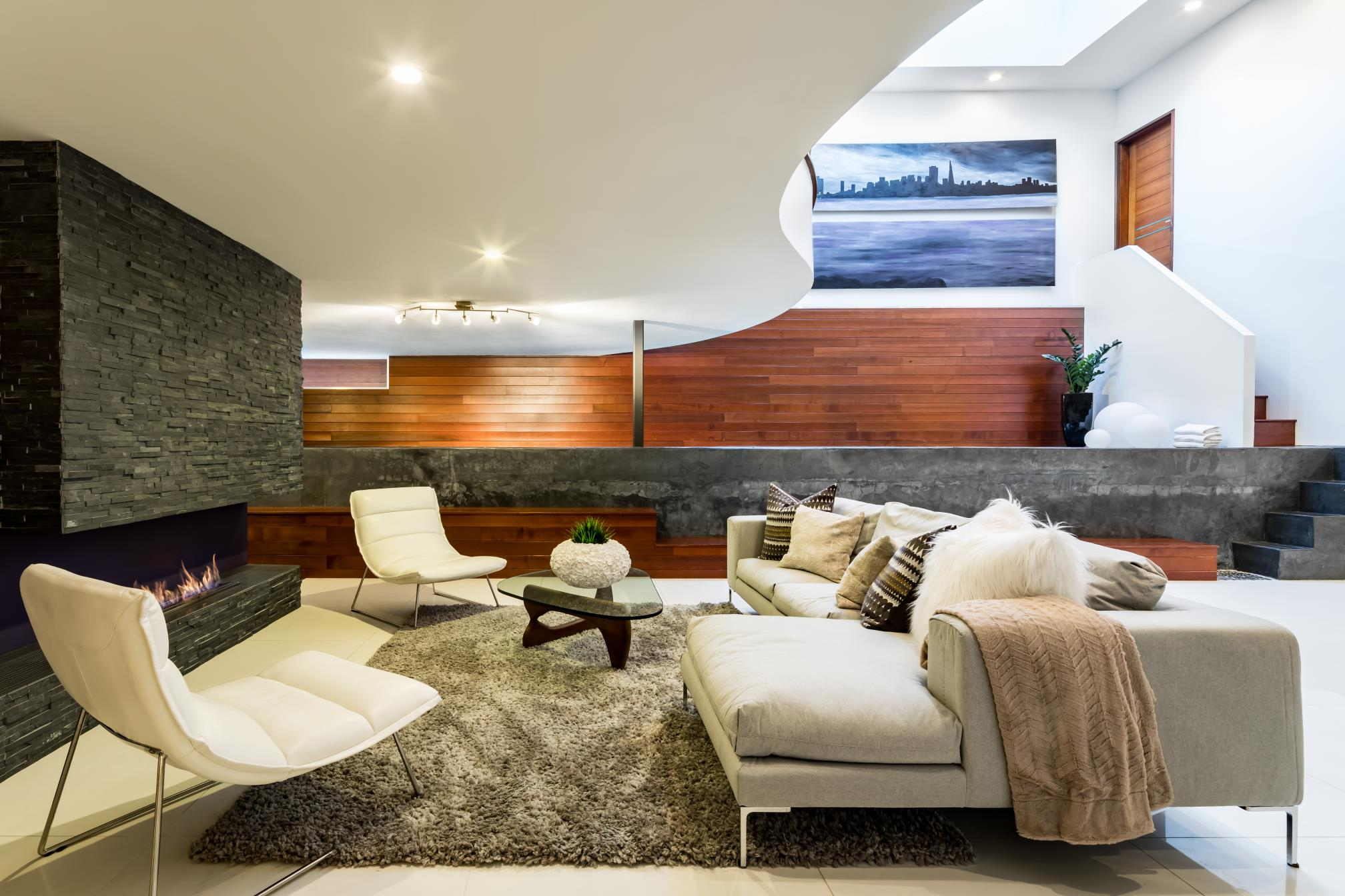 Modern living room, interior design, architect design, Los Altos