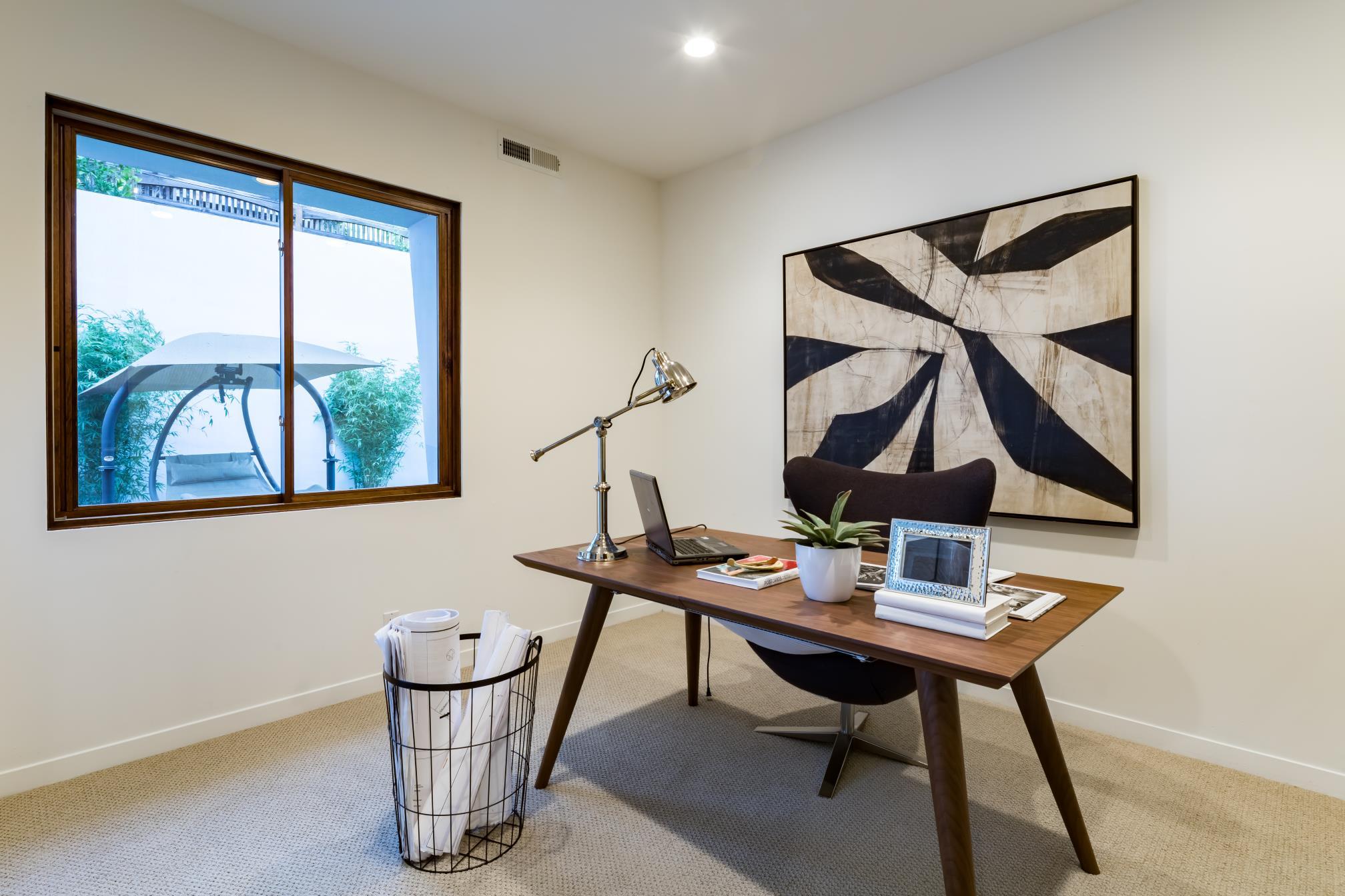 Elegant office corner, architect design, Los Altos
