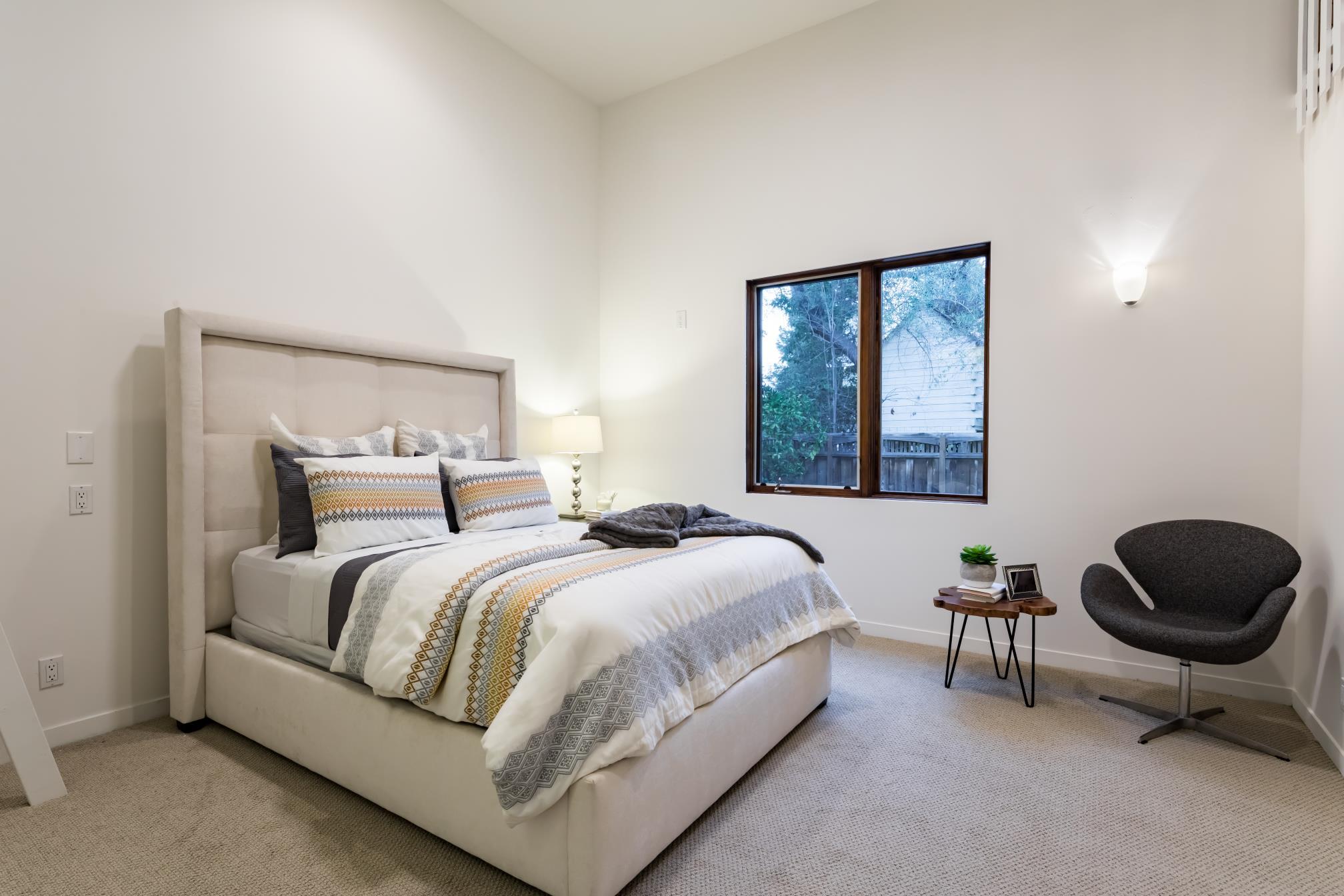 Modern bed room, interior work, Los Altos