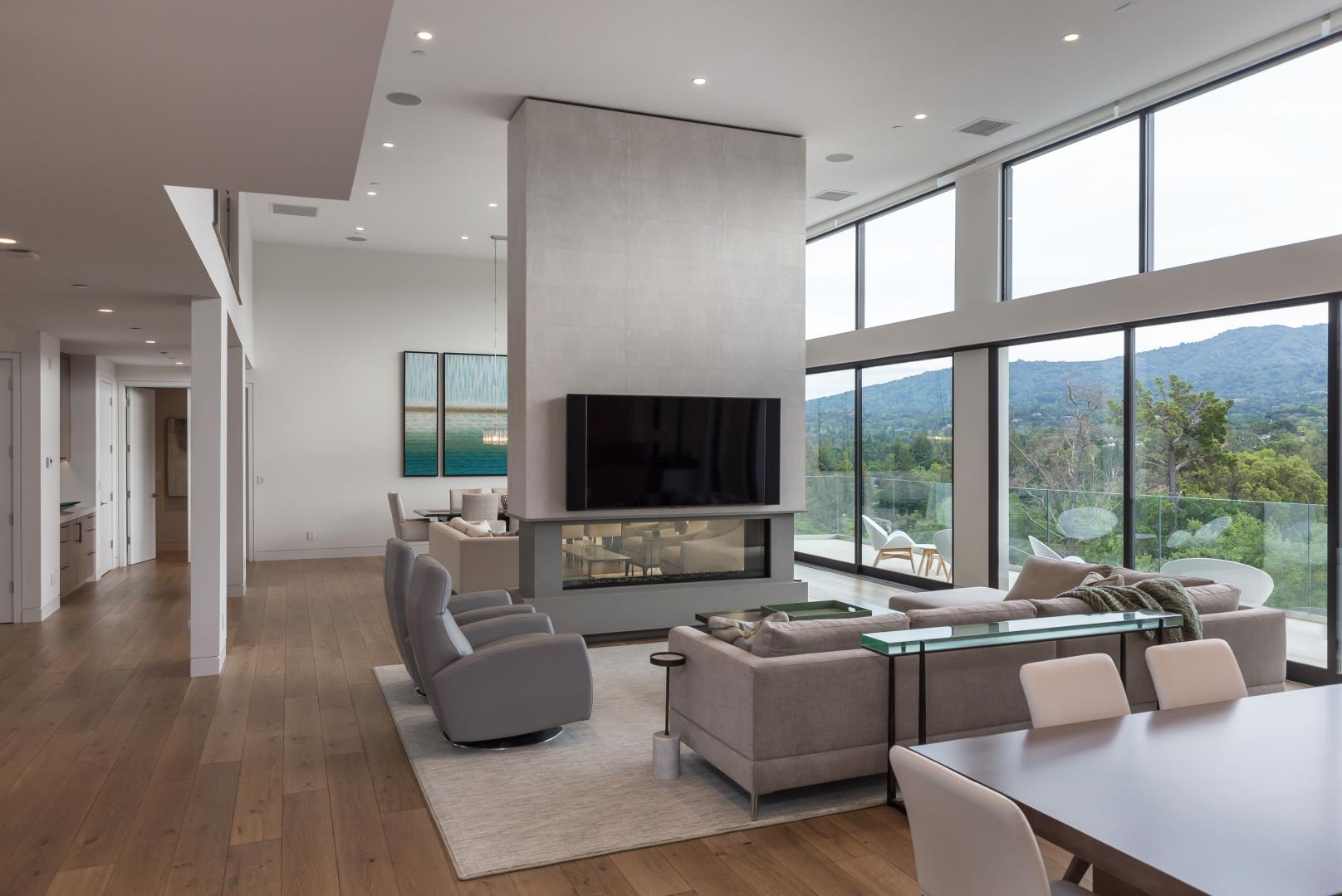 Los Altos Hills , Modern TV Lounge Design,US