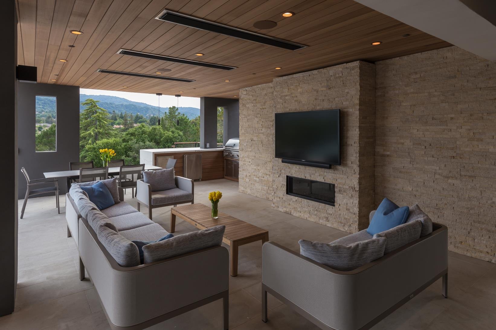 Ruth Lee Court, Los Altos Hills , Modern TV Lounge Design, California