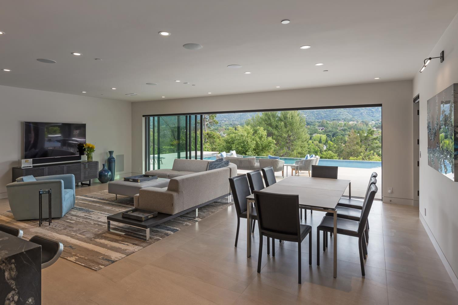 Ruth Lee Court, Los Altos Hills , Modern TV Lounge Design