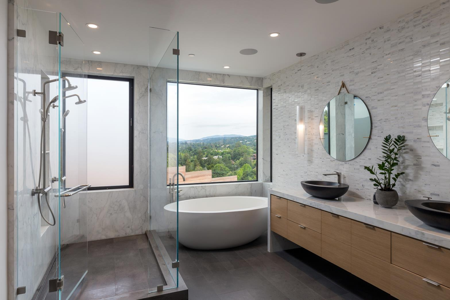 Ruth Lee Court, Los Altos Hills , Modern Bath Room Design